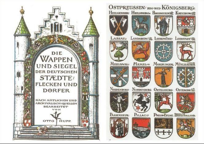 Herby niektórych miast pruskich  fot. http://muzeum.olsztyn.pl/
