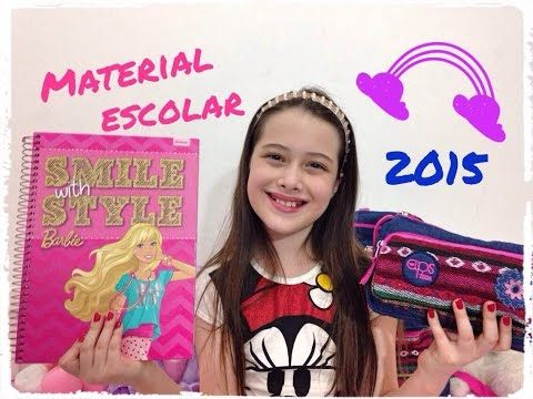 Material Escolar 2015 - volta às aulas - por Julia Silva - YouTube