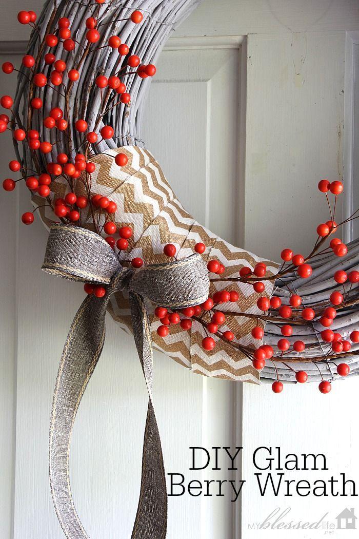 DIY Glam Berry Wreath   MyBlessedLife.net