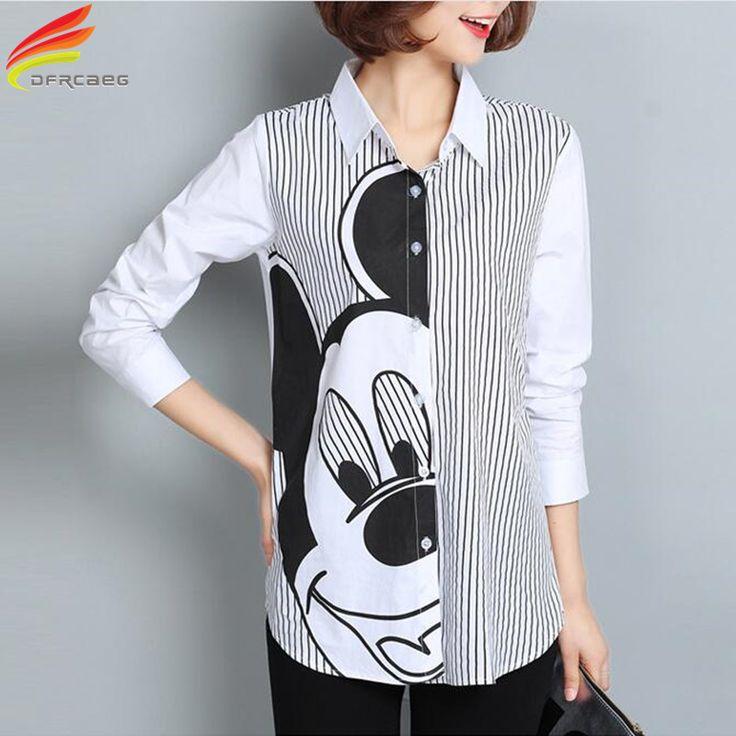 Women Blouses 2017 New Spring Top Plus Size Women Clothing Long Sleeve Blusen Fashion Loose Blusas Feminina Striped Women Shirts