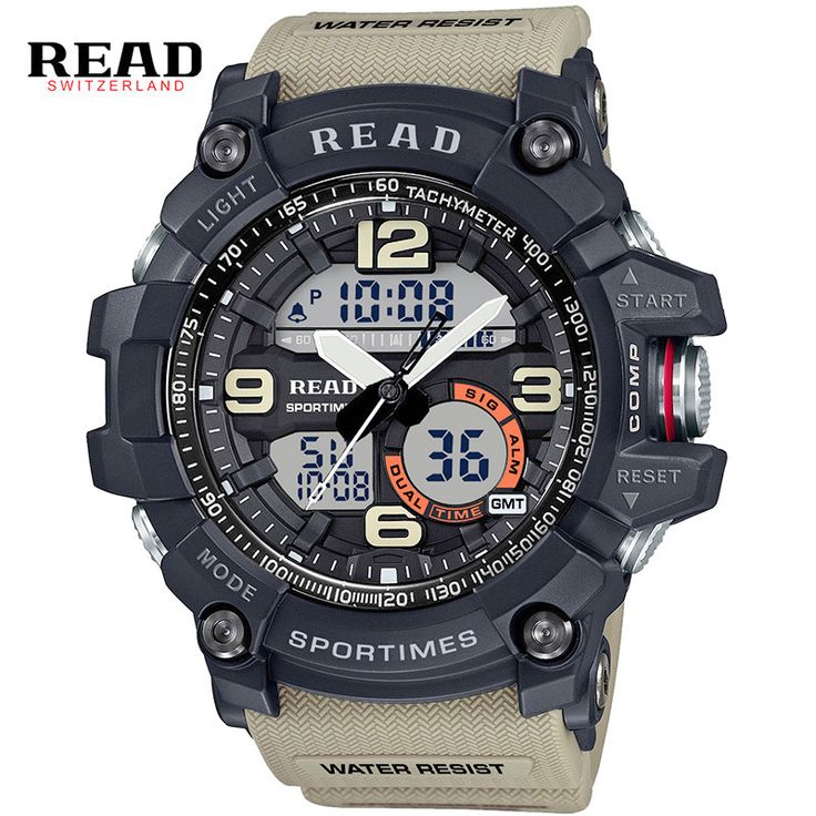 READ brand top newest #Sports Military wrist #watches for #men People #Chronograph #Digital StopWatch #alarm Electronic clock Discount #aliseller360