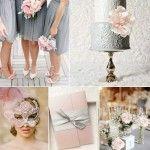 Cinq beau mariage de couleurs dans les tons de gris