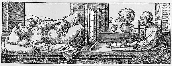 Leon Battista Alberti (Genova 1404 - Roma 1472) Il velo Ricostruzione (da A. Dürer, Underweysung der messung, 1538); legno di noce Firenze, Istituto e Museo di Storia della Scienza