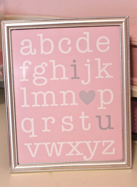 Not only would this be adorable for Valentine's Day but also for a pink nursery:)