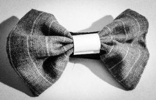 white smoke bow tie