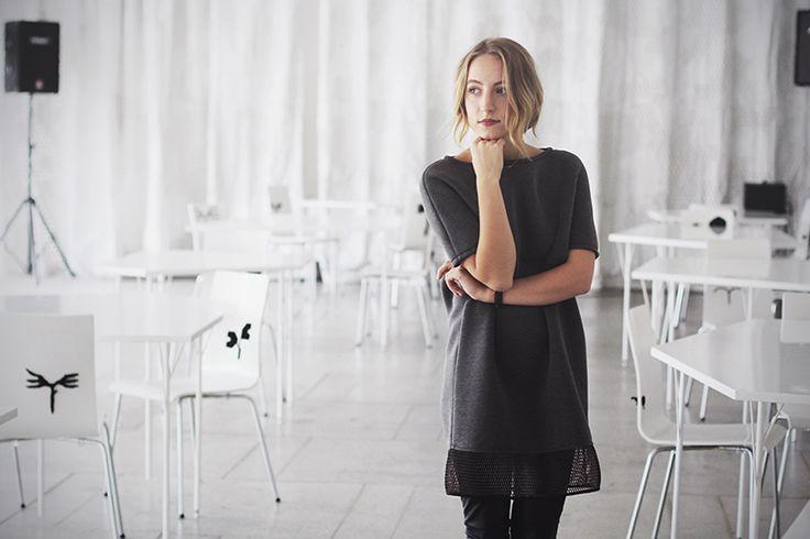 Charming Gema aka @fashionframebyg featuring our DEEP GREY DRESS