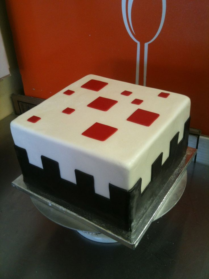 This cake looks exactly as it does in game!  By Spudnuts @ deviantart.com #minecraft #minecraftcake #cake