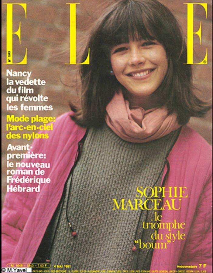 Couverture ELLE magazine 1981, Sophie Marceau