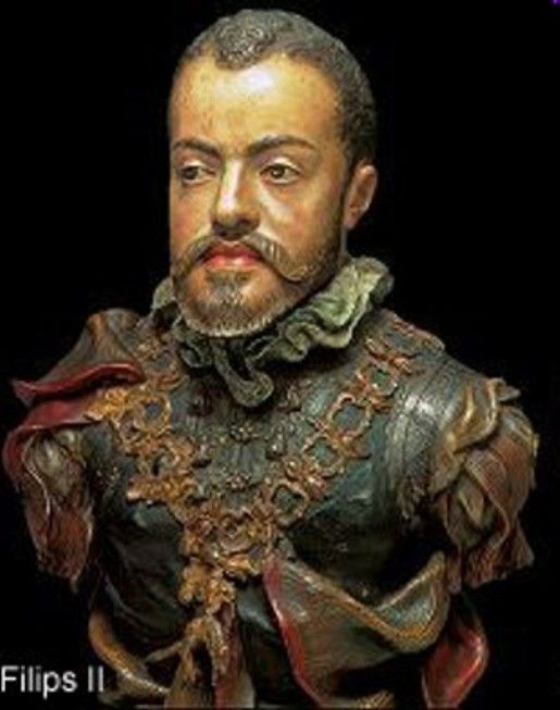 Black Europe  King Philip II of Spain (1527 -1598) Philip was born in Valladolid, the son of Charles V of the Holy Roman Empire, and his consort, Isabella of Portugal. During his reign, Spain was the foremost Western European power. Under his rule, Spain reached the height of its influence and power, directing explorations all around the world and settling the colonization of territories in all the known continents. In 1554 he married Queen Mary I of England.