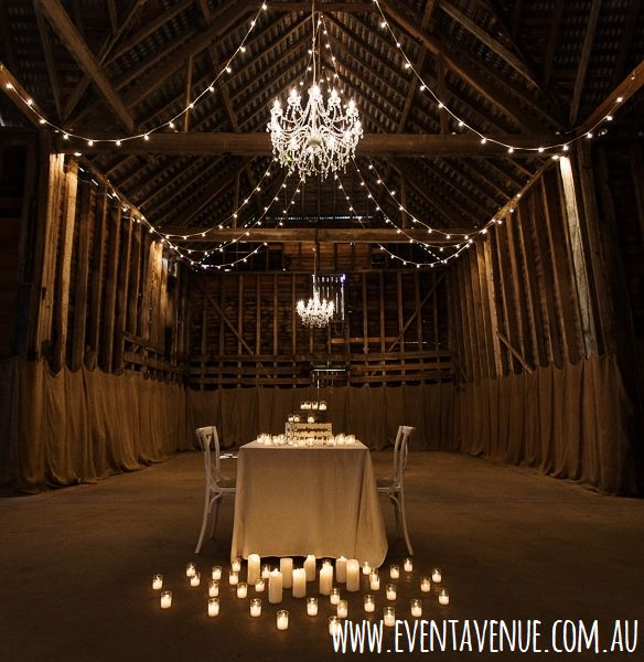 Lovely and romantic Barn and rustic set up