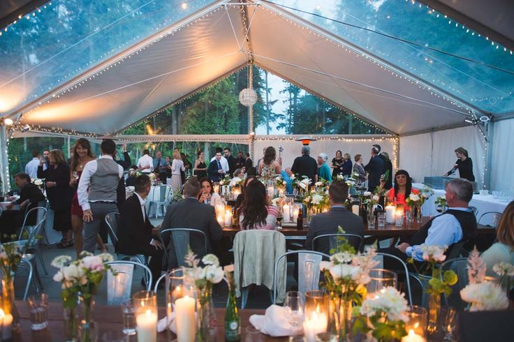 Check out this romantic tented venue at Sea Cider Farm in Vancouver Island.