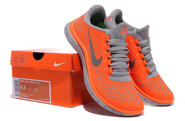 quality design 53a55 34337 Nike Free 3.0 V4 Total Orange Platinum Cool Grey 511495 801