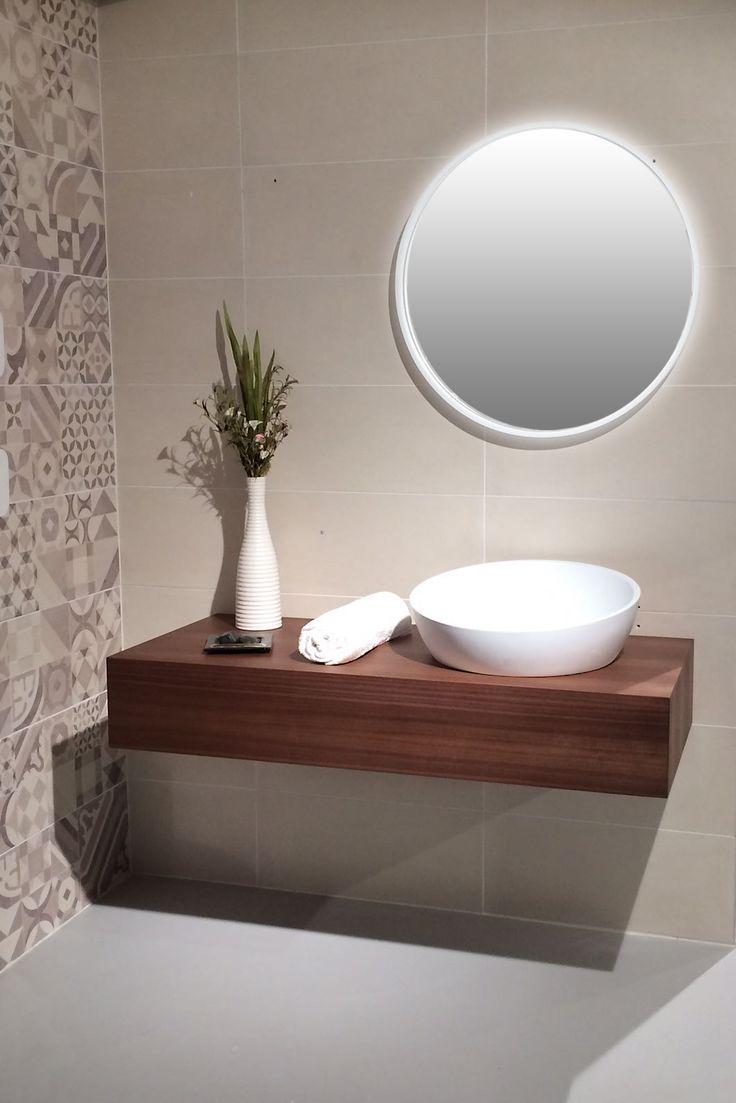 Lavabo semincasso CAMBELLOTTI e specchio GIOTTO, di Alexander Design.