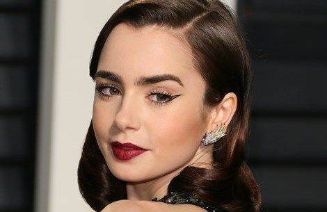 Replica il make-up di Lily Collins  - VanityFair.it  http://www.vanityfair.it/beauty/make-up/17/02/28/lily-collins-make-up-lancome-vanity-fair-oscar-party