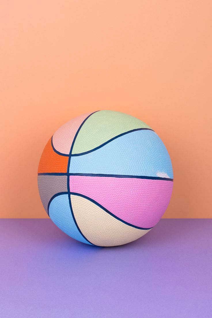 Make that colour bounce girl. @thecoveteur. Bright and colorful pastel basketball photography. Would make a nice phone background too. Save this one for later!