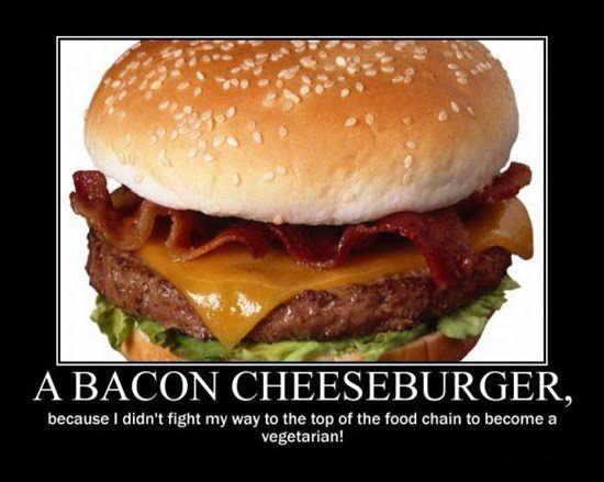 Why a bacon cheeseburger ??
