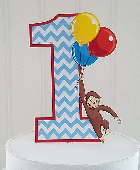 Check out this item in my Etsy shop https://www.etsy.com/listing/513376852/curious-monkey-george-smash-cake-topper