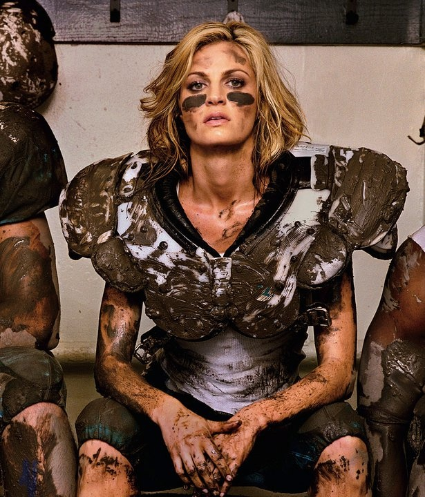 Erin Andrews, not afraid to get dirty.  This looked like us at waterwars