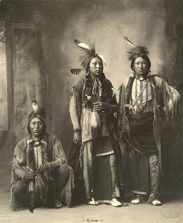 Kiowa men.  1898. Photo by F.A. Rinehart.  Nebraska.