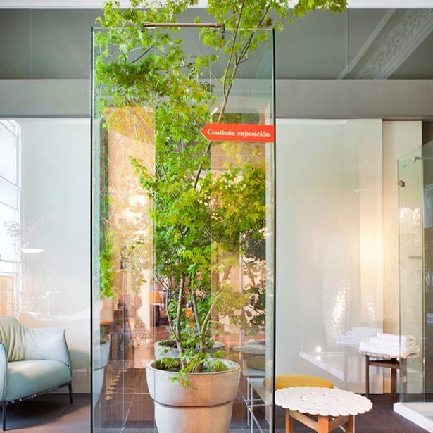 Elementos de vegetación para dar un toque verde en el cuarto de baño ...