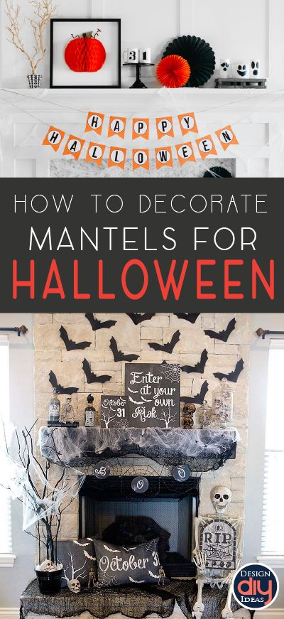 The mantel is a great place to start decorating for Halloween. Check out these spooky and beautiful Halloween mantel decor ideas!