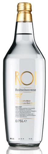 ROI Bottled Water. Simple elegant bottle for our #water loving #packaging peeps PD