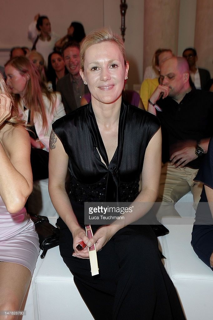 Bettina Wulff attends Basler Show during the Mercedes-Benz Fashion Week Spring/Summer 2013 at Hotel de Rome on July 4, 2012 in Berlin, Germany.