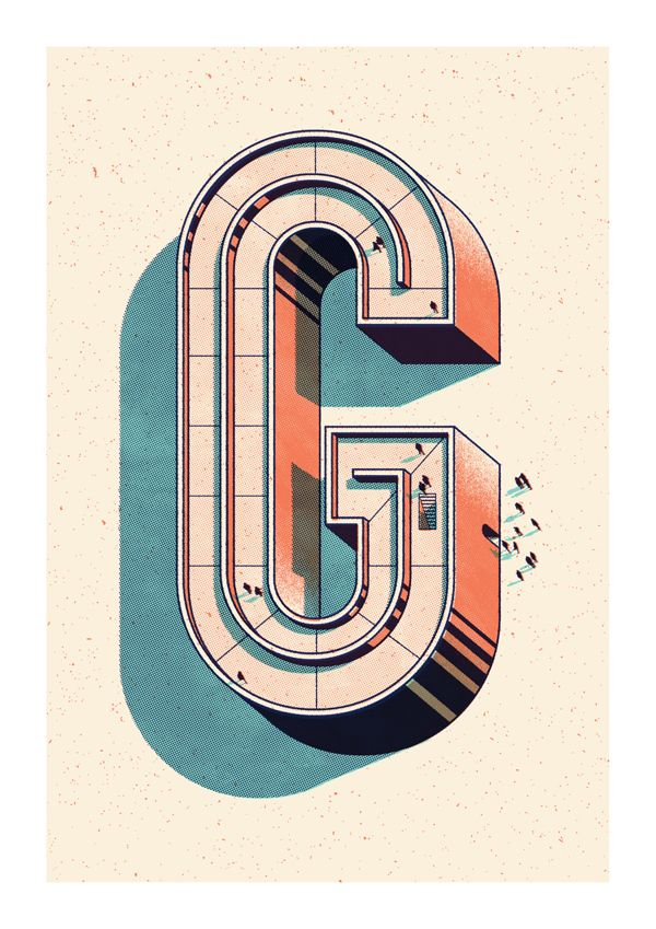 alphabetica - art print - andrew fairclough - via behance