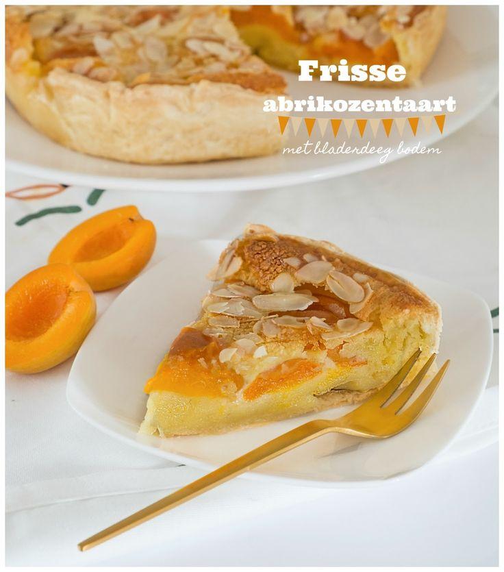 Frisse abrikozentaart met bladerdeeg bodem - Recept uit Portugal - Erg lekker frisse abrikozentaart en zo simpel te maken. Deze taart is ook super lekker als dessert met vanille ijs en een toefje van slagroom. Deze abrikozentaart kun je ook lekker met verse kersen of verse pruimen maken. Is een kwestie van smaak. Verse abrikozen hebben mijn voorkeur. In ongeveer 1 uur en 20 minuten ben je klaar. Deze frisse abrikozentaart is niet te zoet, is echt ideaal voor bij de koffie of thee. Om voor te…