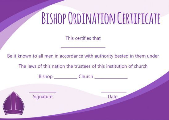 photograph regarding Printable Ordination Certificate called ordination certification template -