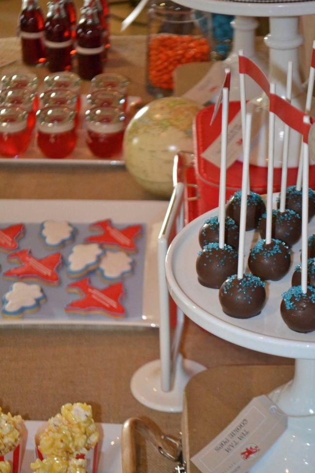 Vintage Plane Birthday Party Dessert Table - Spaceships and Laser Beams
