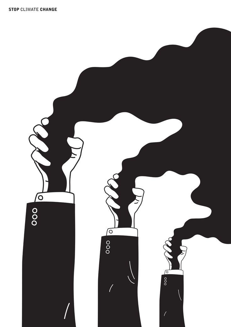 Stop Climate Change poster by Michał Sęk