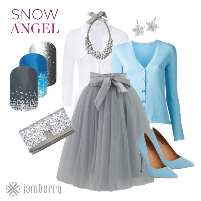 Snow Angel. Love the midnight celebration nail wrap http://shugarysweets.jamberrynails.net/shop