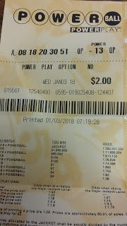Steven Helmer Publications: Well, I Had One Number on the Powerball Last Night...