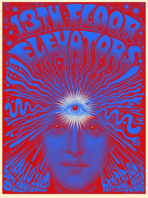 13 best music poster images on pinterest for 13th floor elevators reunion