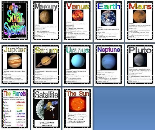 ks2 science teaching resource the solar system printable classroom display posters for primary. Black Bedroom Furniture Sets. Home Design Ideas