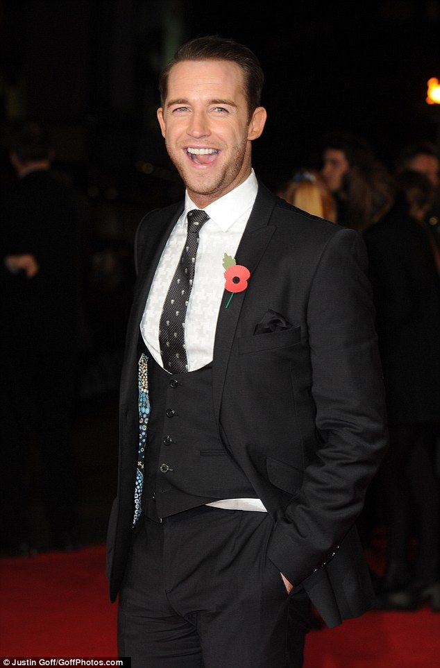 Handsome: Jay James makes it a night for the ladies as he scrubs up in a waist coat and tailored suit