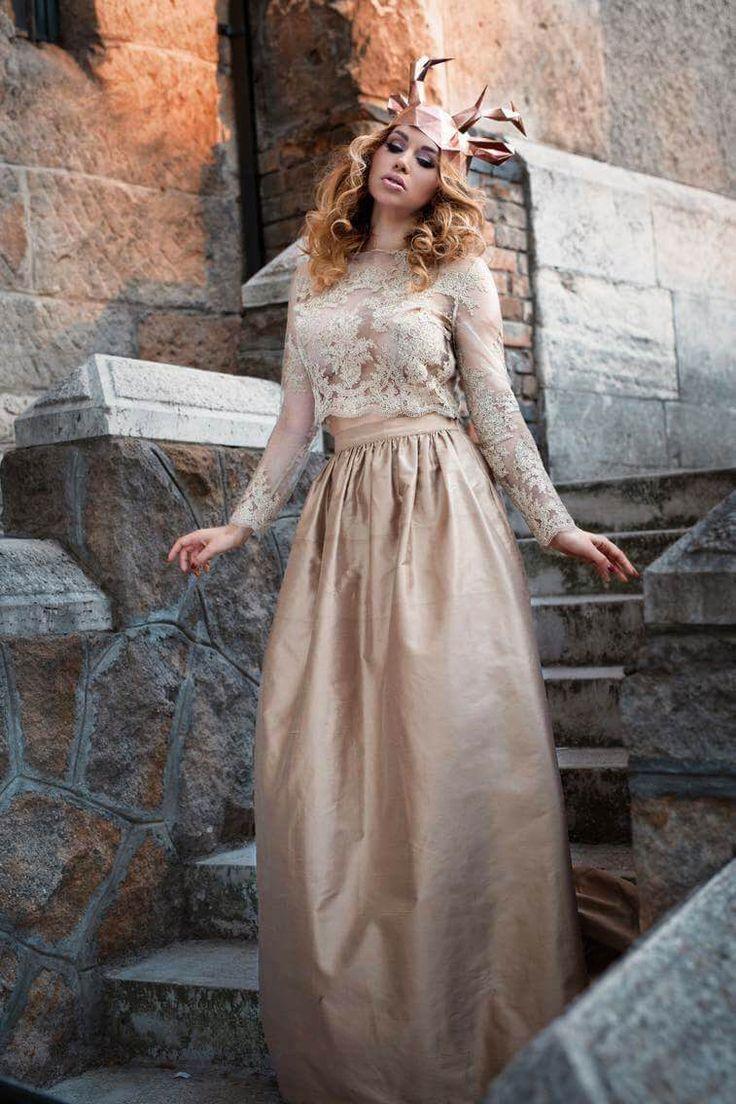 Gold Wedding Dress!   #wedding #dress #gold #kefashion