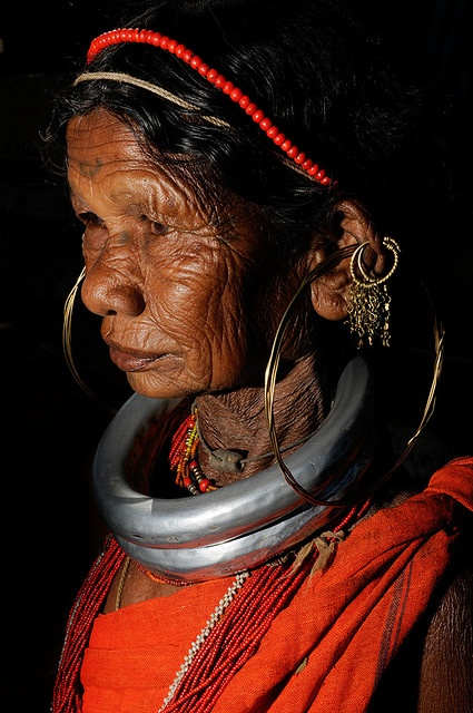 Gadba woman, Orissa, India. The region right from northern Andhra Pradesh to southern Orissa...you can see varied beautiful people on the way with their costumes....