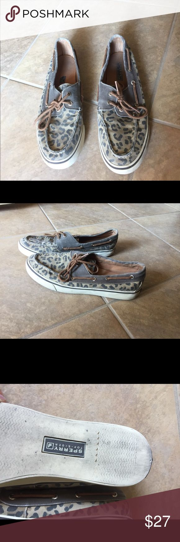 Leopard Sperrys These are brown leapored sperrys,they are in great condition! Sperry Top-Sider Shoes Flats & Loafers
