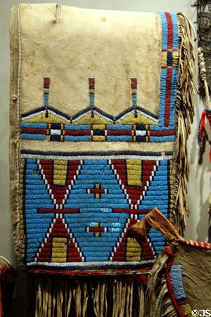 Lakota beaded deer hide saddlebags at Buffalo Bill Historical Center. Cody, WY.