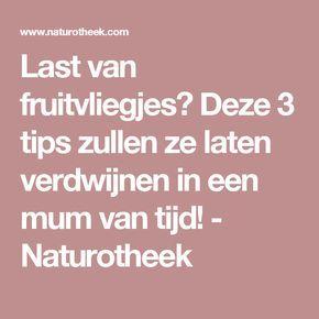 Last van fruitvliegjes? Deze 3 tips zullen ze laten verdwijnen in een mum van tijd! - Naturotheek