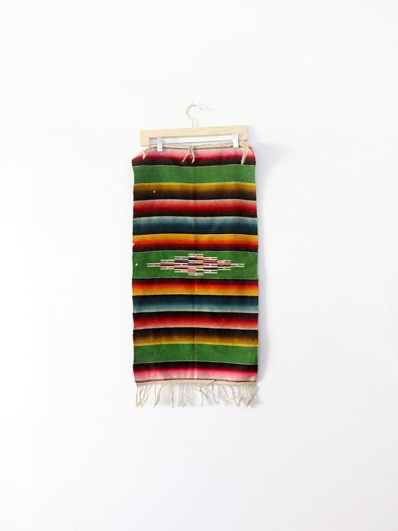 Vintage Southwestern Table Runner / Mexican Serape Style By 86home, $95.00
