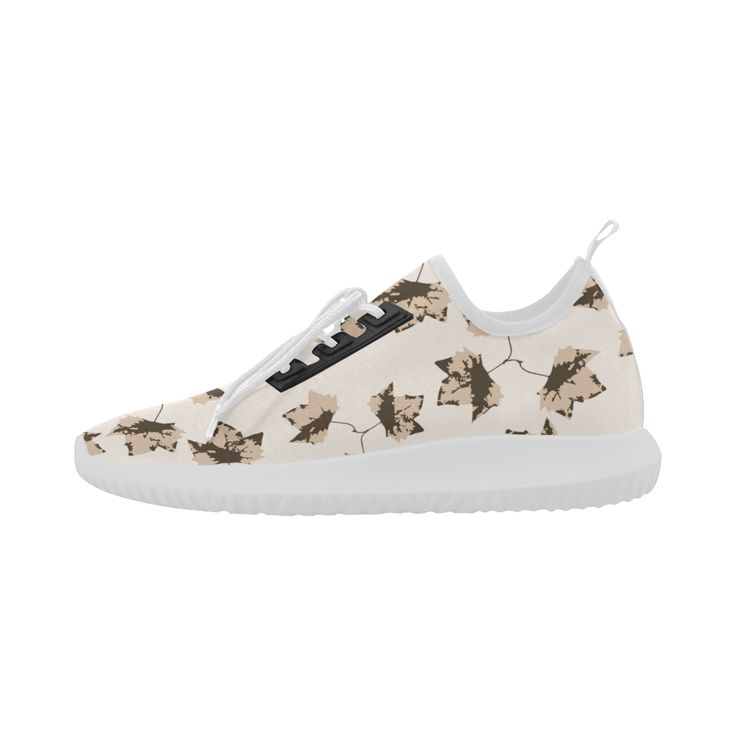 Autumn Leaves Motif Pattern Dolphin Ultra Light Running Shoes for Women