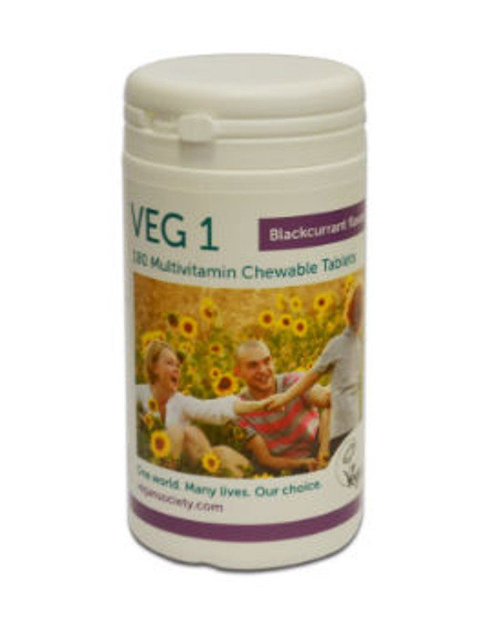 Veg1 Vegan Multivitamin Chewable Tablets - Blackcurrant - 180 - Veg1
