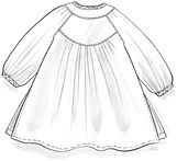 Embroidered cotton satin blouse – Beautiful blossoming Christmas – Gudrun Sjödén