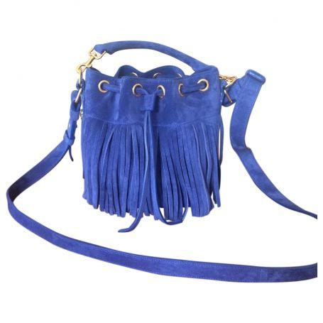 ysl blue suede handbag