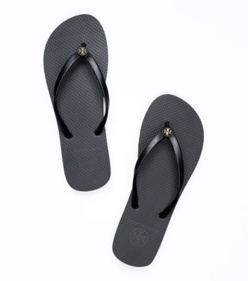 AMY - Thin Enamel Flip Flop | Womens Flip Flops | ToryBurch.com  BLACK - SIZE 9