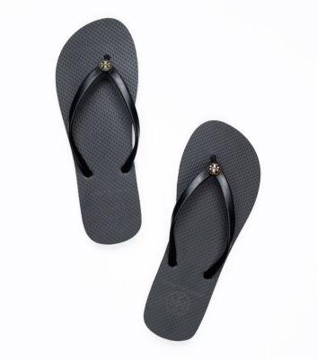 AMY - Thin Enamel Flip Flop   Womens Flip Flops   ToryBurch.com BLACK - SIZE 9