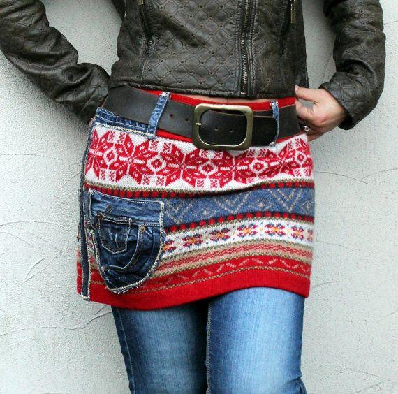 Reserved for Anna Kjelldorff ML mini skirt recycled by jamfashion Intentar con vestido jacquard que me regaló Ángela